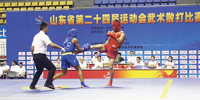 第24届省运会武术散打决赛开赛